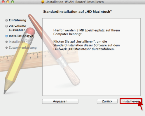 Standardinstallation MacOS