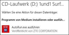 1&1 Hilfe Center - Installation unter Windows