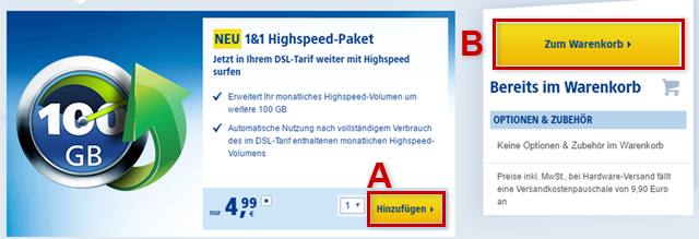 1&1 Highspeed-Paket