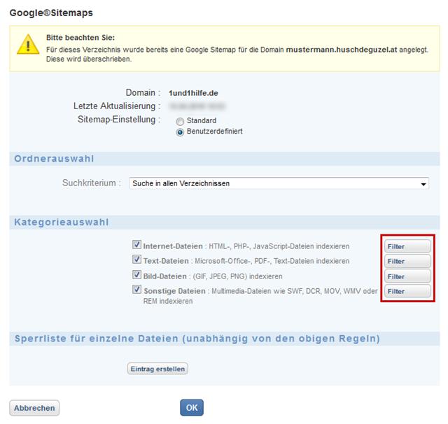 Google Sitemaps: Regeln Für Datei-Indexierung Bei Google Sitemaps Festlegen