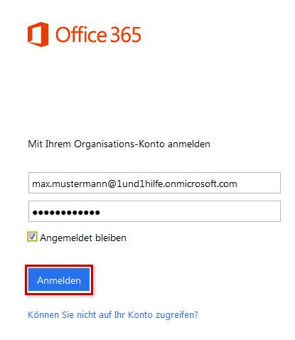Dain in Microsoft Office 365 Business nutzen - 1&1 Hilfe Center