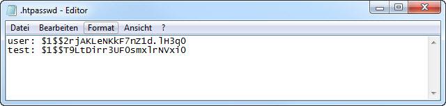 Benutzer und Passwort stehen in der .htpasswd