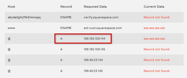 Abb.6: IP-Adresse des Squarespace-Servers